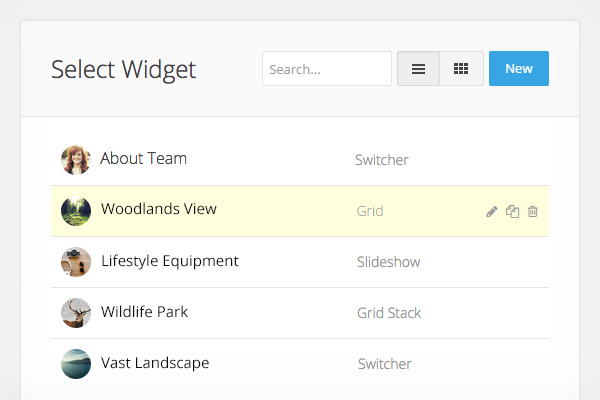 Manage Your Widgets